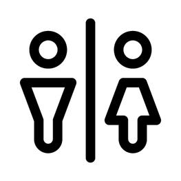 Toiletsticker Abstact Man en Vrouw