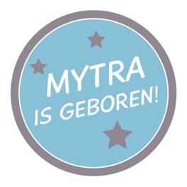 Geboortesticker Fullcolor Etiket Sterren Jongen