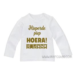 Verjaardag Shirtje Hieperdepiep Hoera met Leeftijd