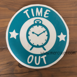 Losse Sticker Time Out Sterren met Klok