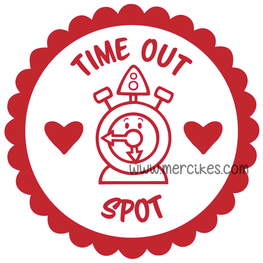 Losse Sticker Time Out Spot Klok