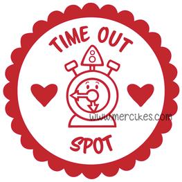 Losse Sticker Time Out Spot Klok