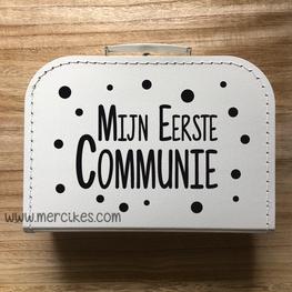 Koffertje voor communie Stippen