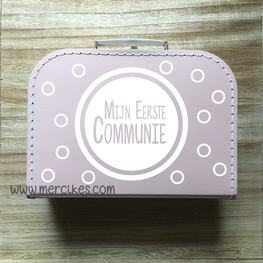 Herinneringskoffer communie Dots