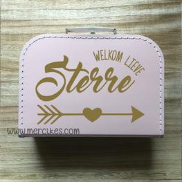 Geboortekoffertje met naam -Welkom
