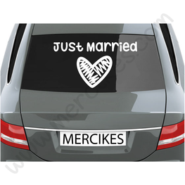 Just Married Sticker Groot Hart