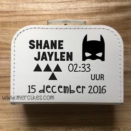 Geboortekoffertje met naam - Batman