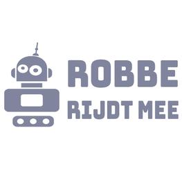 Aan boord Sticker - Robot Naam Rijdt Mee