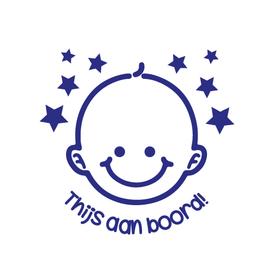 Auto sticker aan boord- Baby met Naam aan Boord