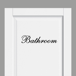 Deursticker Landelijk Bathroom