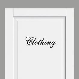 Deursticker Landelijk Clothing