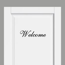 Deursticker Landelijk Welcome