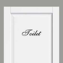 Deursticker Landelijk Toilet