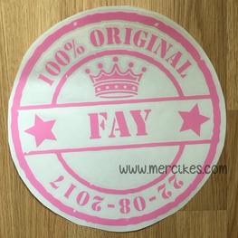 Losse Sticker 100% / Naam / Datum