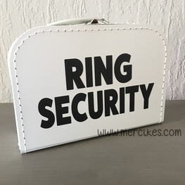 Koffer Ring Security Enkel Tekst!