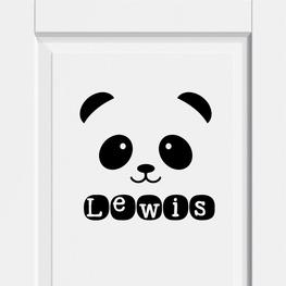 Deursticker Panda met Naam