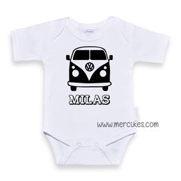 Romper / Body met Naam Volkswagenbusje