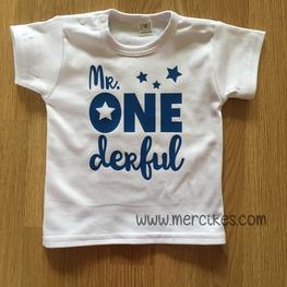 Verjaardag Shirt Mr. Onederful Sterren Korte Mouw