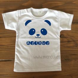 Shirtje met Naam - Panda