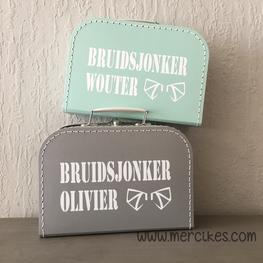 Koffertje voor Bruidsjonker met Naam