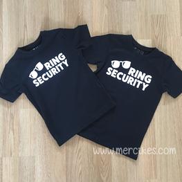 Ring Security T-shirt zonder naam achterkant