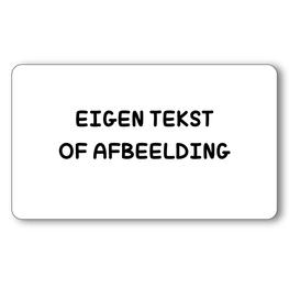 Sticker 6 x 3,5 cm Eigen tekst of afbeelding