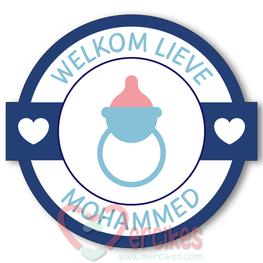 Sticker 6 cm Geboorte - Welkom Speen