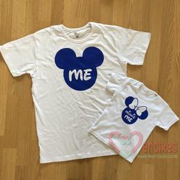 T-shirt Vader Dochter Me en Minnie Me