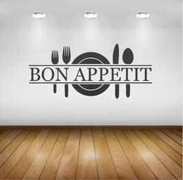 Muursticker - Keuken - Bon Appetit Bestek