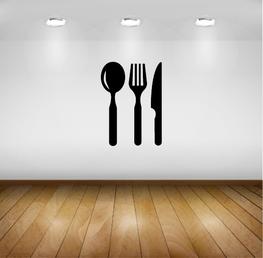 Muursticker - Keuken - Bestek