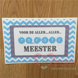 Toffifee De aller aller tofste meester - Sticker