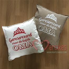 Cadeau Oma- Kussenhoes