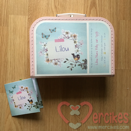 Koffertje Geboortekaartje, een echt persoonlijk cadeau