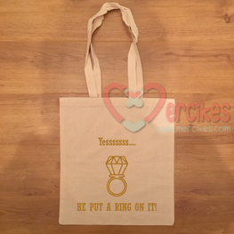 Canvas Tas - He put a ring on it!