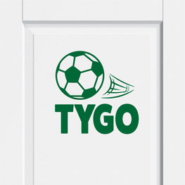 Deursticker Voetbal met Naam