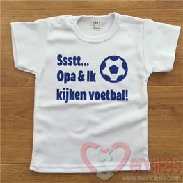Shirtje Sssttt... Opa & Ik kijken voetbal