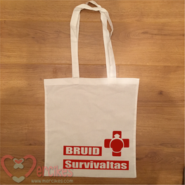 Bruid Survivaltas - canvas bedrukte tas