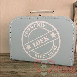 Koffertje voor communie Stempel Naam en Datum