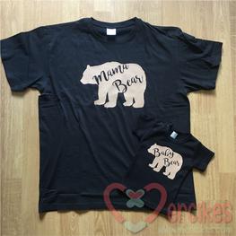 Set T-shirts Mamabear en Babybear