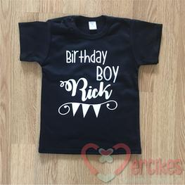 Verjaardag Shirt Birthday Boy met Naam Korte Mouw