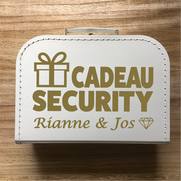 Koffer Cadeau Security - Namen bruidspaar