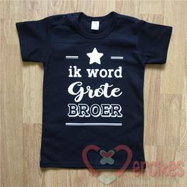 T-shirt Ik word Grote Broer - Lijnen Ster