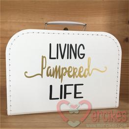 Geboortekoffertje met naam - Living the Pampered Life