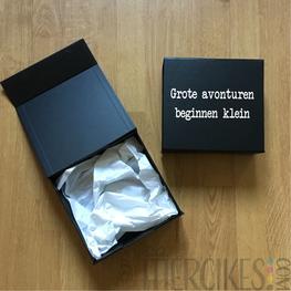 Luxe doos geboorte aankondigen