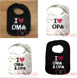 Slabber I love Oma & Opa / Opa / Oma