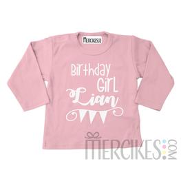 Verjaardag Shirtje Birthday Girl met Naam