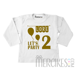 Shirt Verjaardag Let's Party - Lange mouw