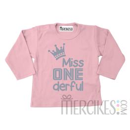 Verjaardag Shirtje Eerste Verjaardag Miss One derful