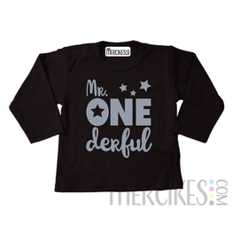 Shirt mr onederful ster - Lange mouw