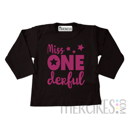 Shirt miss onederful ster - Lange mouw